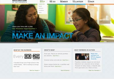 Complete website redesign of Boys and Girls Club
