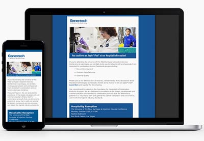Responsive HTML email for Genentech