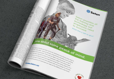 A series of 3 recruitment brand concept ads for Seton Healthcare
